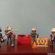 Playmobil: DIORAMA LOTE SET FIGURAS PLAYMOBIL BOMBEROS Y COMPLEMENTOS. Lote 162525765