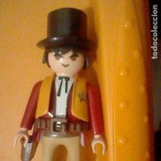 Playmobil: PLAYMOBIL HISTORIA OESTE CINTURON SOMBRERO COPA FIGURA JUGADA. Lote 162932142