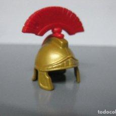 Playmobil: PLAYMOBIL CASCO DORADO ROMANO CON PENACHO CEPILLO CRUZADO. Lote 236877890