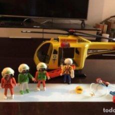 Playmobil: HELICÓPTERO RESCATE PLAYMOBIL COMPLETO. Lote 164913394