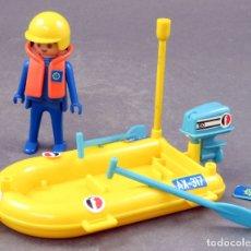 Playmobil: LANCHA ZODIAC CON CLICK FAMOBIL SYSTEM AÑOS 70. Lote 165072934