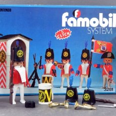 Playmobil - Caja Guardia Real click Famobil System Ref 3281 bastante completo complementos años 70 - 165077678