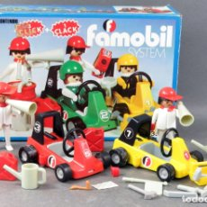 Playmobil - Caja Cars Go Kart Racing click Famobil System Ref 3523 bastante completo complementos años 70 - 165078414