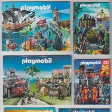 Playmobil: LOTE 6 PEQUEÑOS CATÁLOGOS PLAYMOBIL AÑOS 1985-2009-2011-2013-2014-2015. Lote 54269297