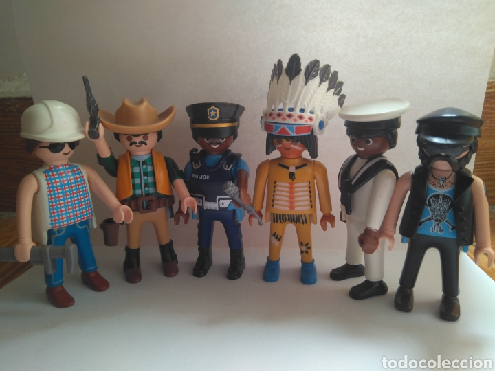 PLAYMOBIL VILLAGE PEOPLE MACHO MAN SAN FRANCISCO IN THE NAVY (Juguetes - Playmobil)