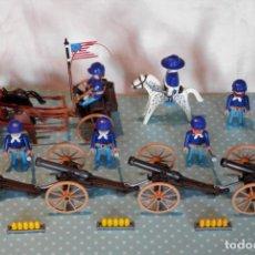 Playmobil: PLAYMOBIL NORDISTAS CON CAÑÓNES Y CARRO. Lote 166195606