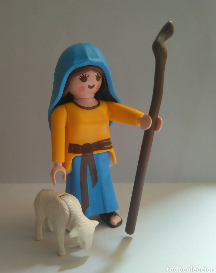 PLAYMOBIL PASTORA PARA EL BELEN PASTOR NAVIDAD CON BORREGO (Juguetes - Playmobil)