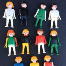Playmobil: PLAYMOBIL - LOTE 11 FIGURAS FAMOBIL CLICK - GEOBRA 1974. Lote 194744481