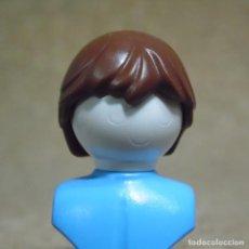 Playmobil: PLAYMOBIL PELO PELUCA MARRÓN TIPO HOMBRE CHICA/CHICO (EL BUSTO NO ESTA INCLUIDO). Lote 190103303