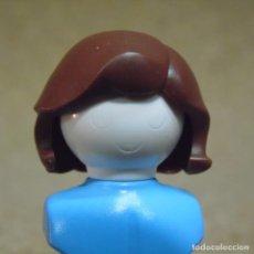 Playmobil: PLAYMOBIL PELO PELUCA MARRÓN MELENA TIPO MUJER CHICA/CHICO CUIDAD (EL BUSTO NO ESTA INCLUIDO). Lote 167077656