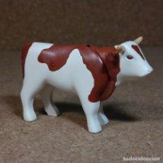 Playmobil: PLAYMOBIL VACA TORO MARRON/BLANCO, ANIMALES MEDIEVAL GRANJA OESTE WESTERN. Lote 167187728