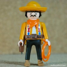 Playmobil: PLAYMOBIL MEXICANO - CUSTOM, VAQUERO CON LASO LEJANO OESTE WESTERN. Lote 191025473