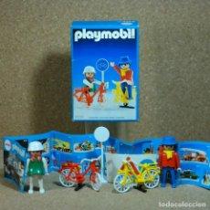 Playmobil: PLAYMOBIL 3310 COMPLETO CON CAJA Y CATALOGO, FIGURAS PAREJA BICICLETAS ROJA AMARILLA PARQUE PLAZA. Lote 169243816