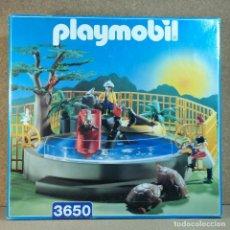 Playmobil: PLAYMOBIL REF. 3650, COMPLETO Y CON CAJA, ACUARIO PILETA CON TORTUGAS ZOO ANIMALES MARINOS. Lote 203845672