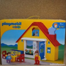 Playmobil: PLAYMOBIL 123 1.2.3 CASA 6741 2 FIGURAS MAMA NIÑO Y UN GATO. Lote 169472164