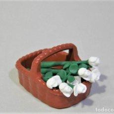 Playmobil: PLAYMOBIL LOTE CESTA ROSAS FLORES BOSQUE PLANTAS CASA VICTORIANA. Lote 206256592