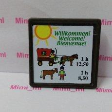 Playmobil: PLAYMOBIL CARTEL GRANJA PONIS LETRERO ESTABLO PONYS CABALLOS. Lote 170309296