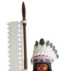 Playmobil: PLAYMOBIL FIGURA JEFE INDIO, HECHICERO SERIE 4 PLAYMOBIL. Lote 171211183