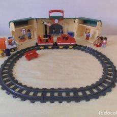 Playmobil: LOTE PLAYMOBIL 1 2 3 - ESTACION TREN - CAMION BASURA - FIGURAS Y ANIMALES. Lote 171257134