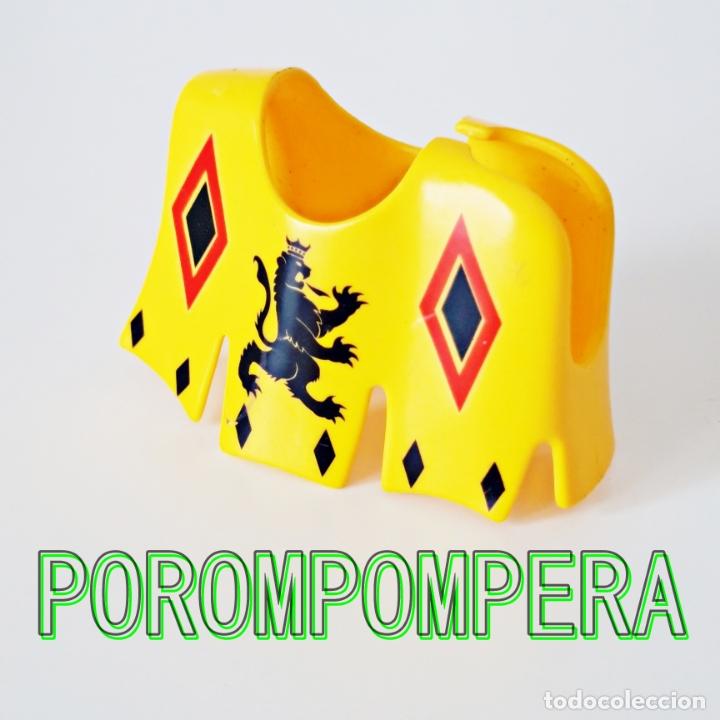 PLAYMOBIL FALDÓN AMARILLO 4163 JUSTA ORDEN LEÓN MANTA CABALLO GUALDRAPA CABALLERO TORNEO MEDIEVAL (Juguetes - Playmobil)