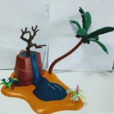 Playmobil: PLAYMOBIL CATARATA CASCADA MEDIEVAL WESTERN DIORAMA TERRENO PALMERA. Lote 171675409