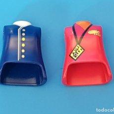 Playmobil: PLAYMOBIL DOS TORSOS CUERPOS MUJER CHICA AZAFATA CIUDAD AEROPUERTO AVIÓN MEDIEVAL. Lote 171699577