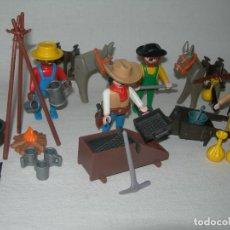 Playmobil: MINEROS / BUSCADORES DE ORO DEL OESTE DE PLAYMOBIL REFERENCIA 3747 - PRÁCTICAMENTE COMPLETO -. Lote 252257280