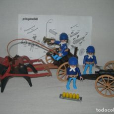 Playmobil: CARRO CON CAÑÓN Y SOLDADOS NORDISTAS DE PLAYMOBIL CON SUS INSTRUCCIONES - REFERENCIA 3729 COMPLETA -. Lote 171774098