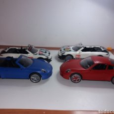 Playmobil: LOTE DE 4 PORSCHE PLAYMOBIL PARA DESPIECE O DESGUACE. Lote 171780702