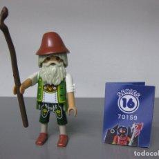 Playmobil: PLAYMOBIL SERIE 16 AZUL CHICOS SOBRE SORPRESA ABUELO ALPES ALPINO REF 70159 SOBRES. Lote 171823992