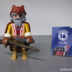 Playmobil: PLAYMOBIL SERIE 16 AZUL CHICOS SOBRE SORPRESA TRAMPERO OESTE REF 70159 SOBRES. Lote 171824329
