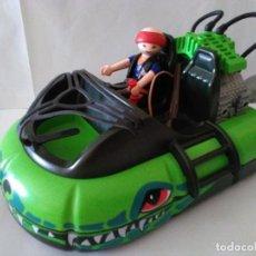 Playmobil: PLAYMOBIL-CAZADOR EN VEHÍCULO ANFIBIO AERODESLIZADOR DE VIGILANCIA DE COCODRILOS.4446.. Lote 172026505