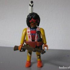 Playmobil: PLAYMOBIL OESTE INDIO SIOUX CON RIFLE Y MACHETE. Lote 172116518
