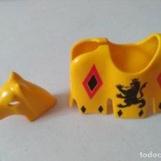 Playmobil: PLAYMOBIL MEDIEVAL FALDÓN GUALDRAPA CABALLO TORNEO. Lote 172226665
