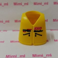 Playmobil: PLAYMOBIL CHALECO PILOTO MOTO MOTOCROSS ENDURO MOTOCICLETA UVEX. Lote 172294700