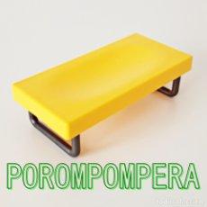 Playmobil: PLAYMOBIL CAMA AMARILLA 4819 CAMILLA COLCHÓN COMPLETA CON PATAS PARQUE DE BOMBEROS AØ3. Lote 172680377
