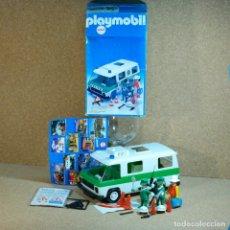 Playmobil: PLAYMOBIL 3253 COMPLETO Y CON CAJA, FURGÓN POLICÍA VERDE, COCHE AUTO VEHÍCULO KLICKY PRIMERA ÉPOCA. Lote 218164537