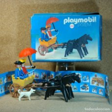 Playmobil: PLAYMOBIL REF. 3749, CALESA AMARILLA ÚNICA DE ANTEX, LEJANO OESTE WESTERN CARRETA PASEO KLICKY . Lote 172970533