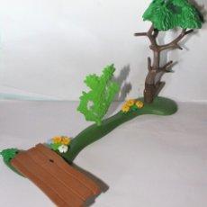 Playmobil: PLAYMOBIL MEDIEVAL TERRENO ARBOL DIORAMA VEGETACON ZOO. Lote 173014683