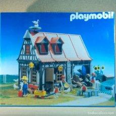 Playmobil: PLAYMOBIL 3556 COMPLETO CON CAJA, GRANJA MEDIEVAL STECK OESTE WESTERN ANIMALES CASA. Lote 194255470