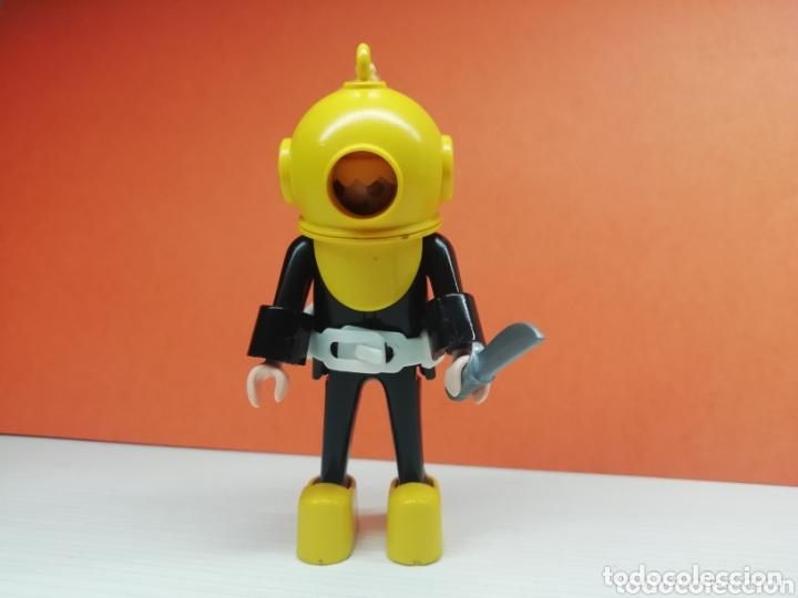 PLAYMOBIL.. REF-3348...ANTIGUO BUZO AMARILLO... (Juguetes - Playmobil)