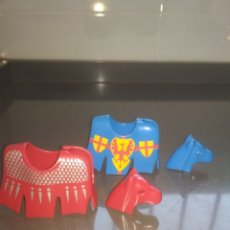 Playmobil: PLAYMOBIL MEDIEVAL CABALLERO FALDAS CABALLO JUSTA. Lote 173263040
