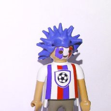 Playmobil: PLAYMOBIL FIGURA HINCHA DE FUTBOL - FAN FUTBOLERO SELECCIÓN FRANCESA . Lote 173383222