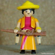 Playmobil: PLAYMOBIL MEXICANA - CUSTOM, MUJER VAQUERA LEJANO OESTE WESTERN PUEBLO. Lote 173484624