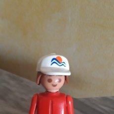 Playmobil: RARA FIGURA PLAYMOBIL MANOS FIJAS CON GORRA LOGOTIPO MEDAS 1974. GEOBRA. Lote 173507012