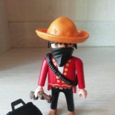Playmobil: PLAYMOBIL, LOTE, OESTE, WESTERN, BANDIDO MEXICANO ESPECIAL, REF 4544, OFICIAL, VAQUEROS, INDIOS.. Lote 189440006