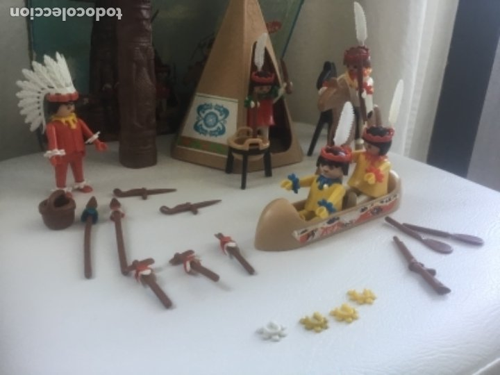 Playmobil: Famobil playmobil 5 indios tipi totem ref. 3483 - Foto 2 - 173866395