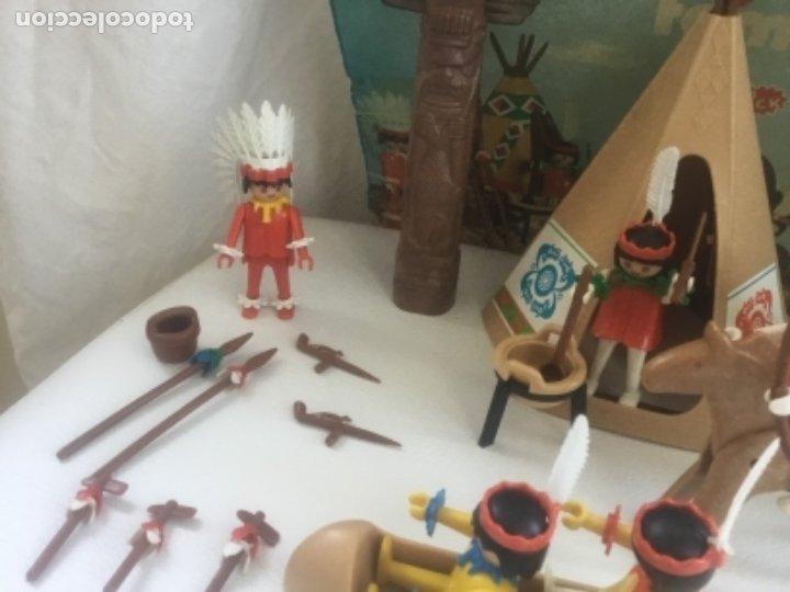 Playmobil: Famobil playmobil 5 indios tipi totem ref. 3483 - Foto 5 - 173866395