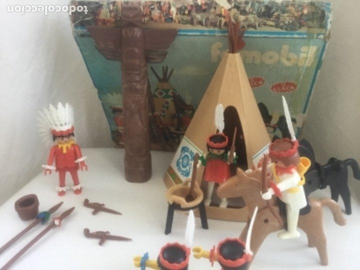 Playmobil: Famobil playmobil 5 indios tipi totem ref. 3483 - Foto 6 - 173866395