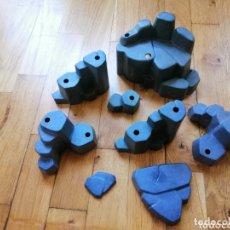 Playmobil: PLAYMOBIL LOTE ROCAS COLOR NEGRO MONTAÑA DIORAMA MEDIEVAL WESTERN PREHISTÓRICO PIEDRA PIRATA ZOO. Lote 174027495